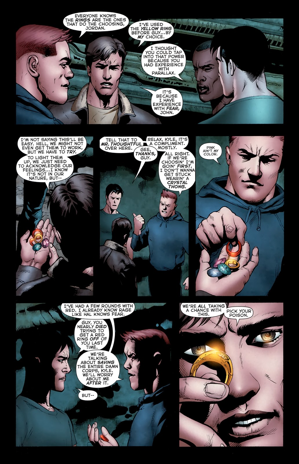 Green Lanterns Using Rings From Other Emotional Corps