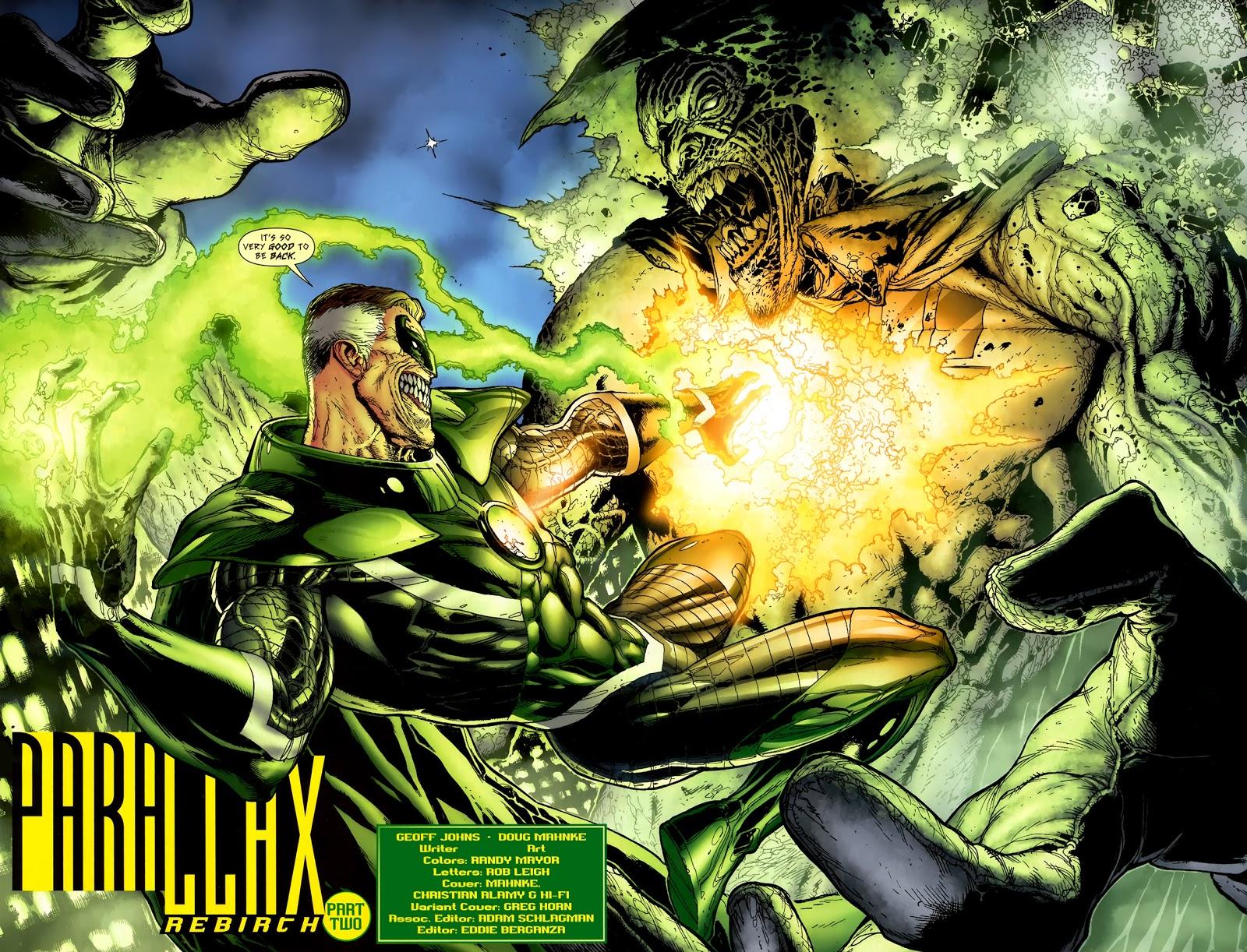 Parallax-Hal Jordan VS Black Lantern Spectre