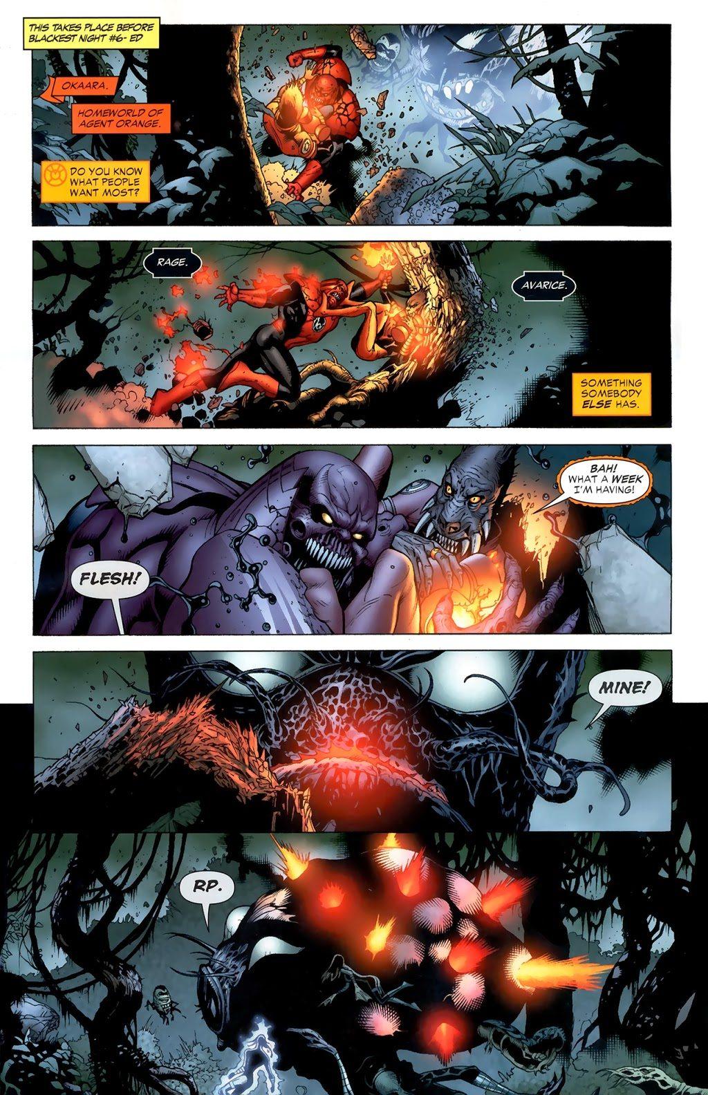 Red Lantern Atrocitus VS Agent Orange Larfleeze