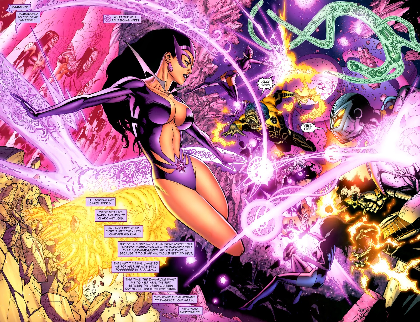 Star Sapphire Carol Ferris (Green Lantern Vol. 4 #45)