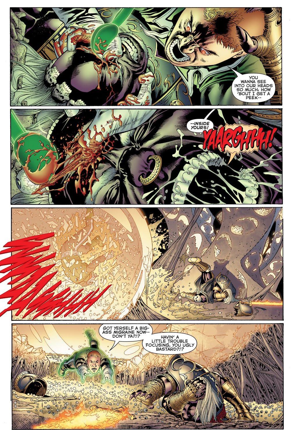 Green Lantern Guy Gardner Plucks Zardor's Eye