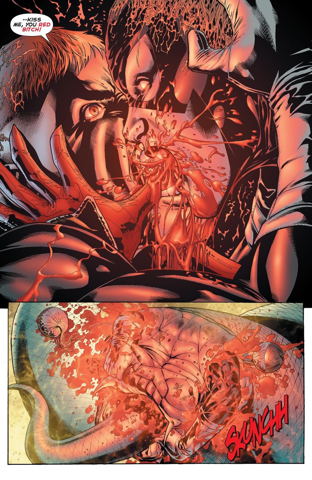 Guy Gardner Kisses Red Lantern Bleeze