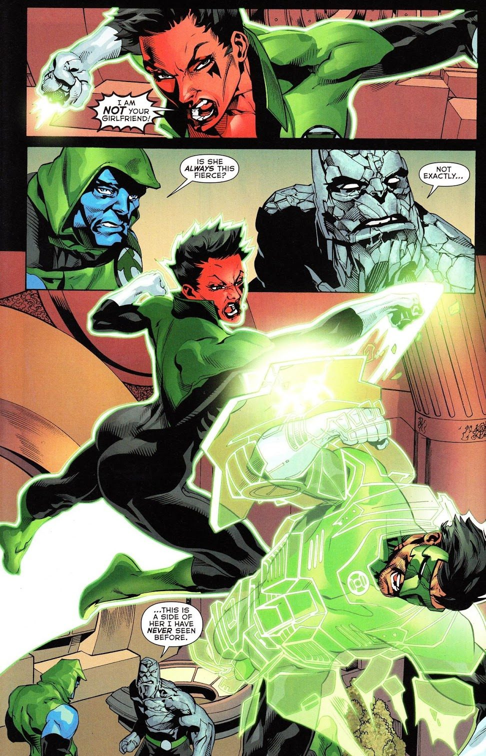 Kyle Rayner VS Soranik Natu (War of the Green Lanterns Aftermath #2)