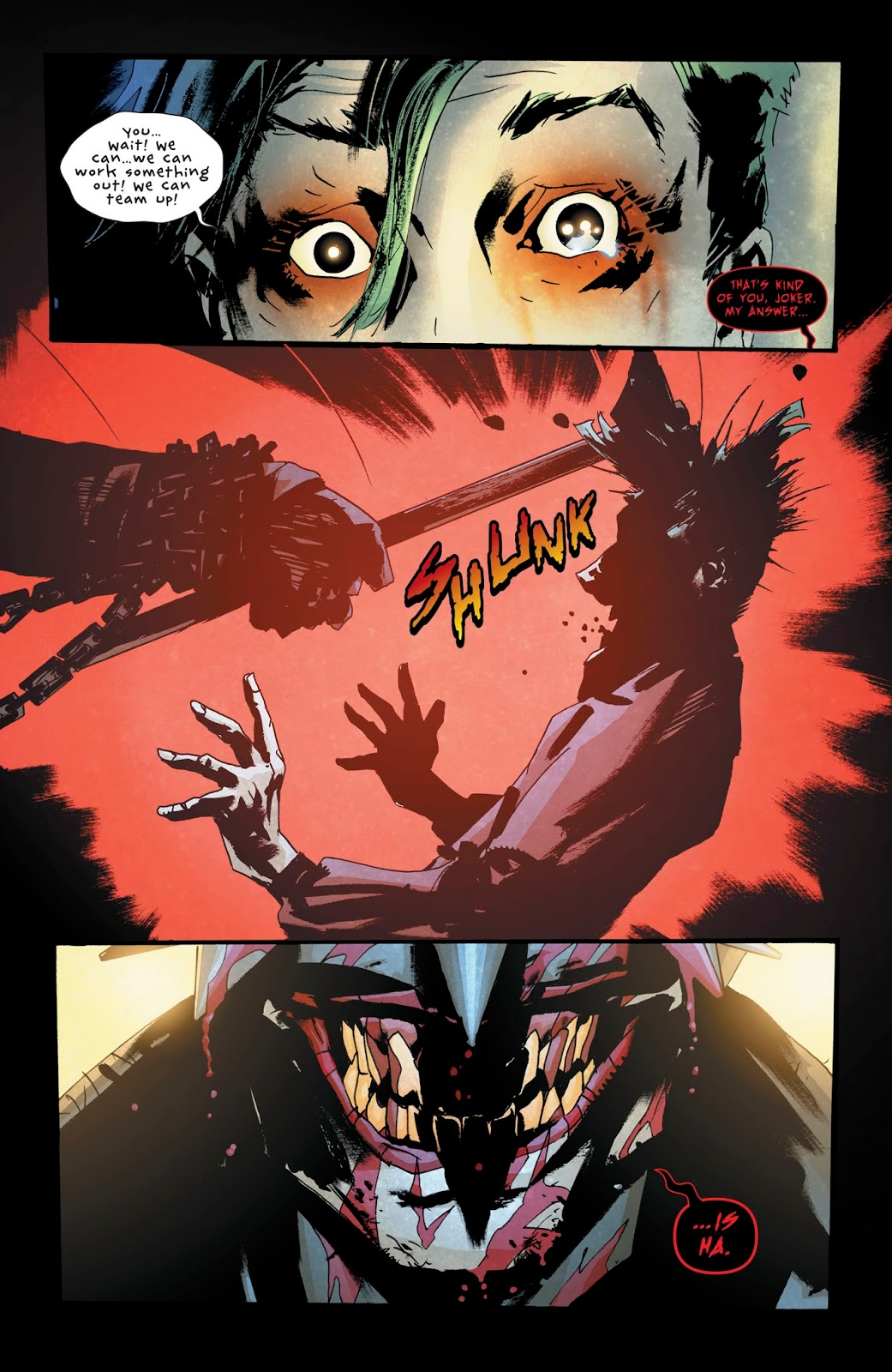 The Batman Who Laughs Kills The Joker