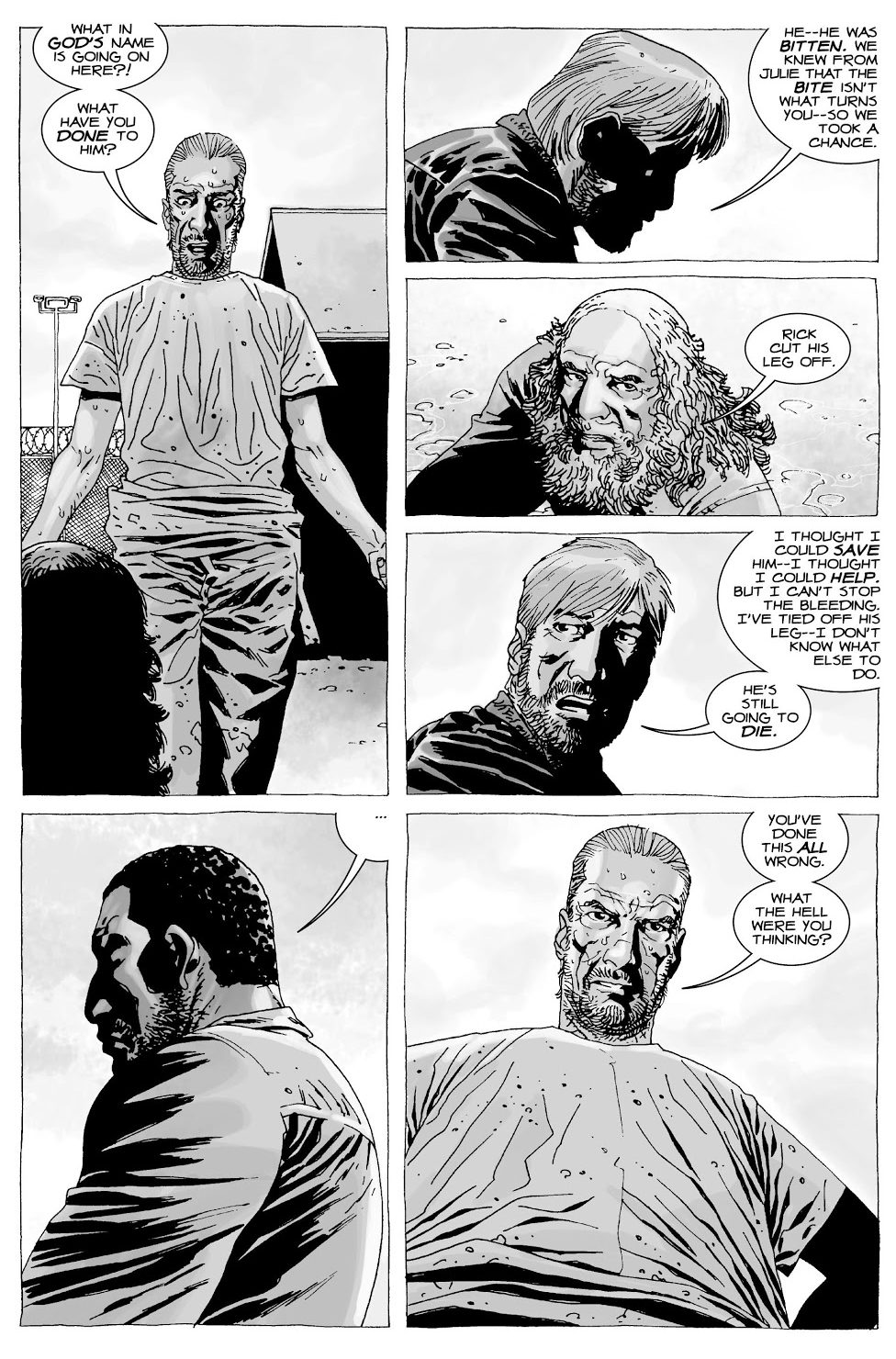 Rick Grimes Amputates Allen's Leg (The Walking Dead)