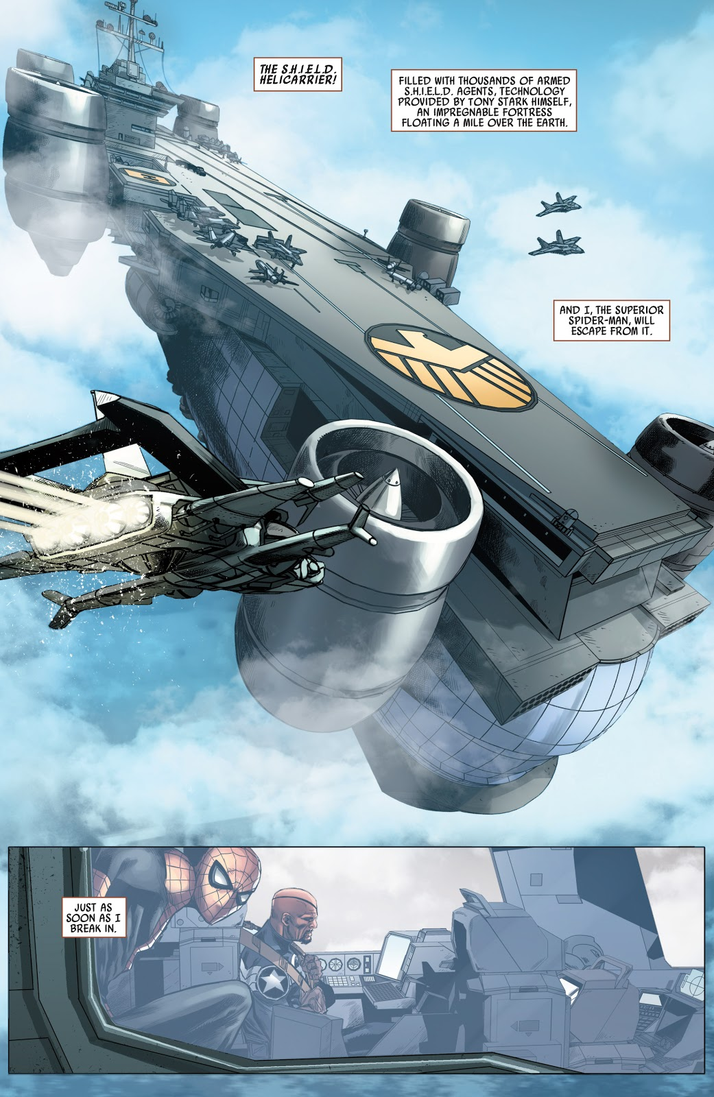 SHIELD Helicarrier (Avenging Spider-Man #20)