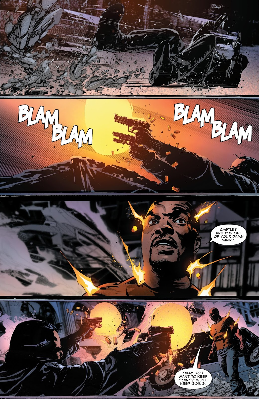 the punisher vs luke cage and iron fist (the punisher vol. 12 #2)