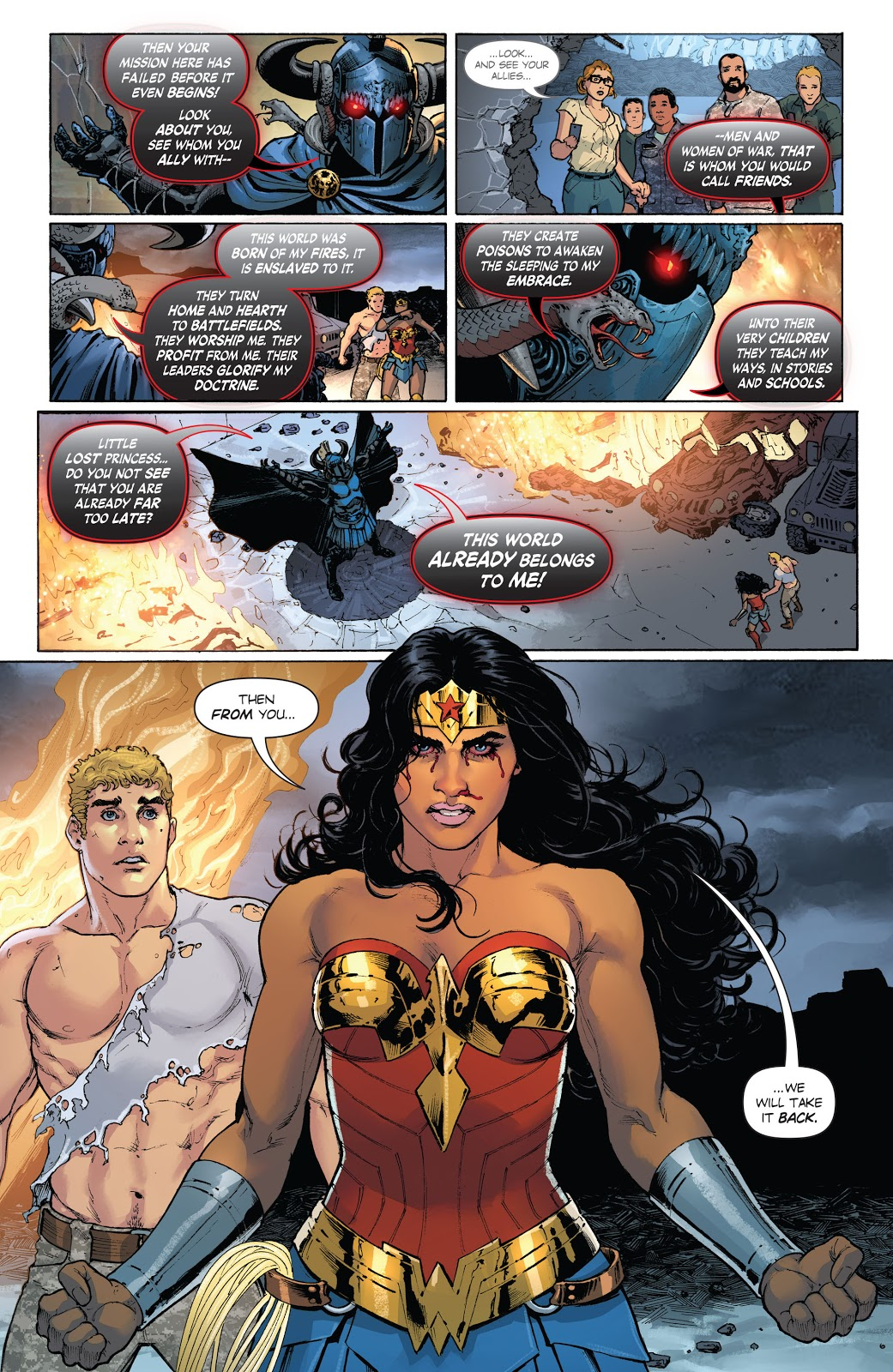 Wonder Woman Challenges Ares (Rebirth)