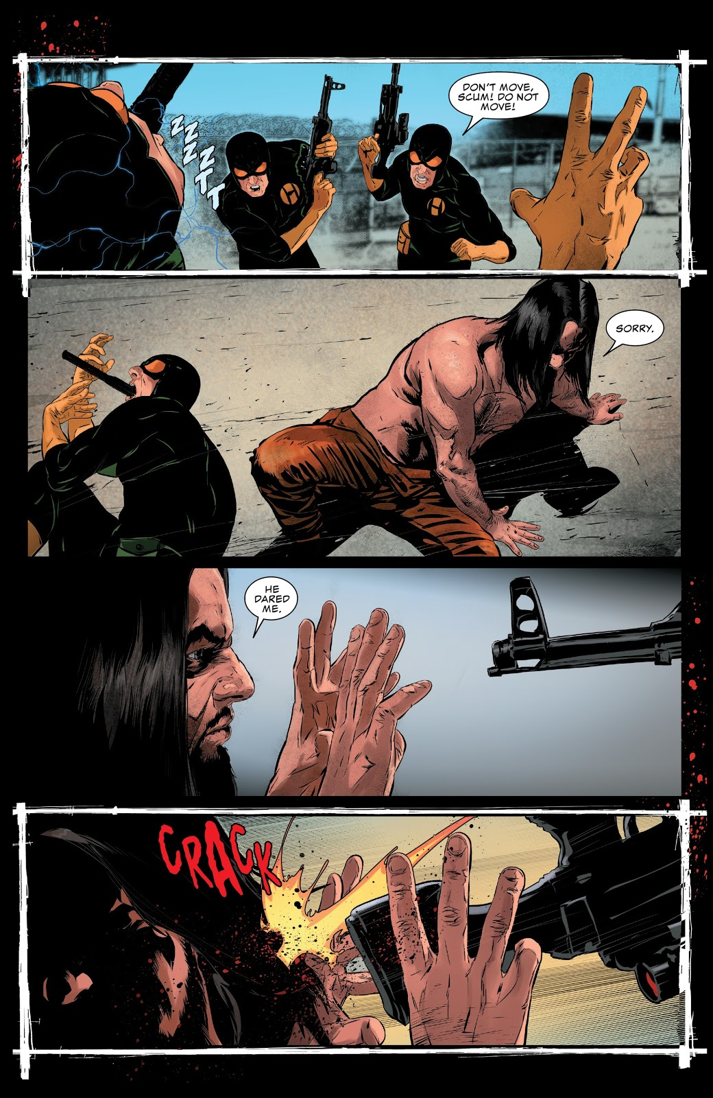 The Punisher Killing A Hydra Prison Guard