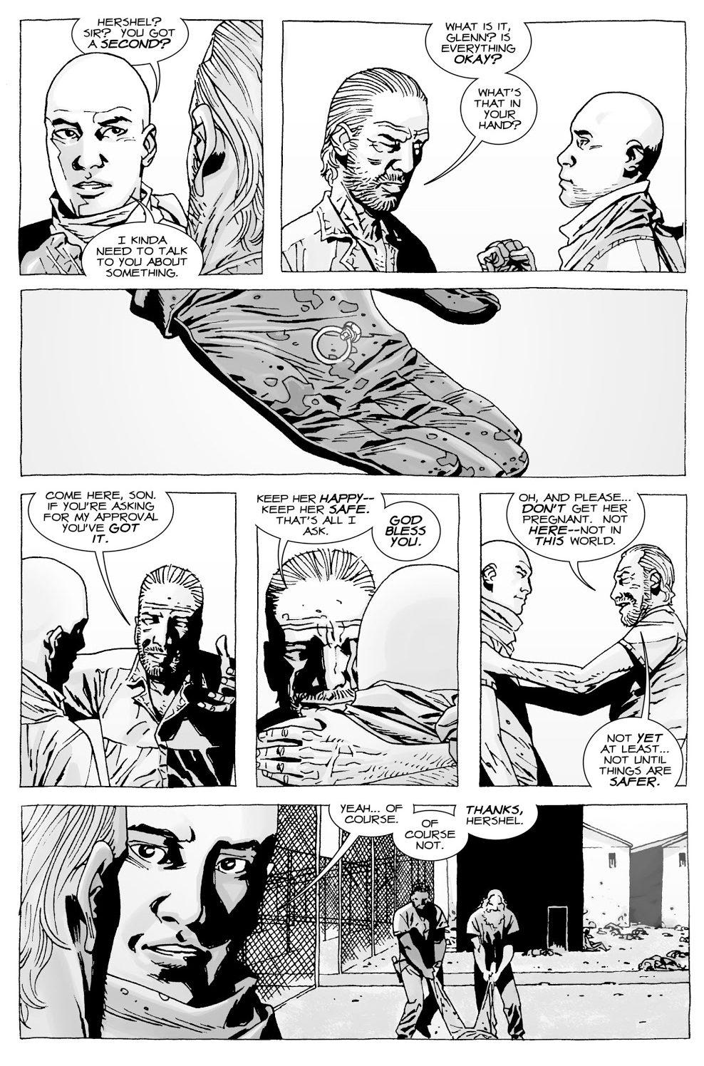 Hershel Greene Gives His Blessing To Glenn (The Walking Dead)
