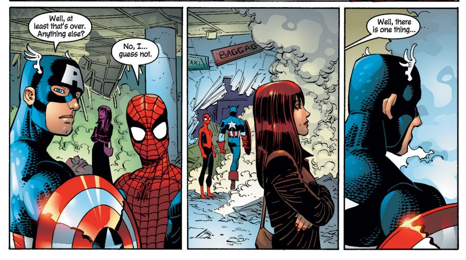Mary Jane Parker Meets Captain America