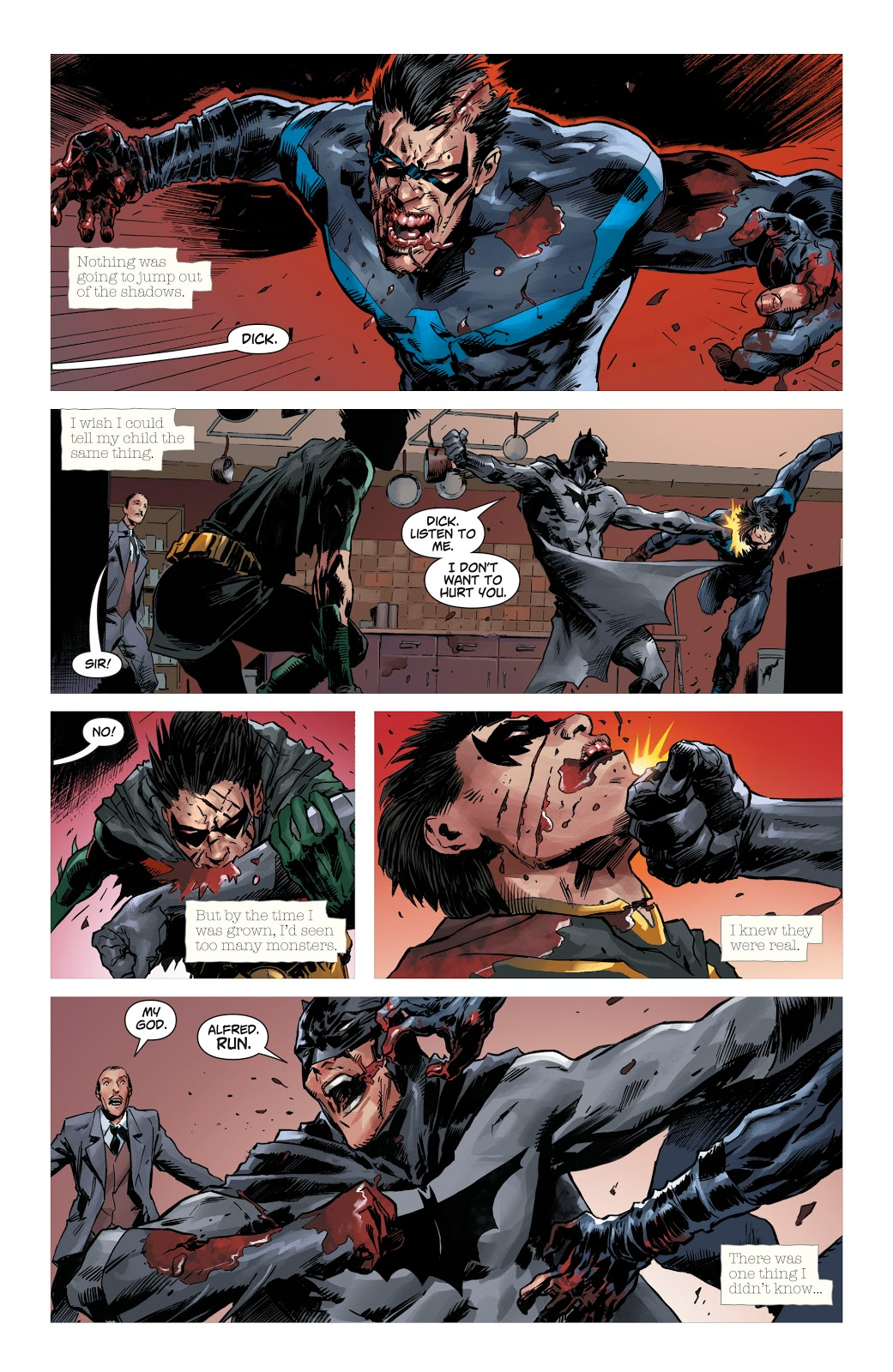 Nightwing And Red Robin Infected With Anti-Life Equation (Dceased)
