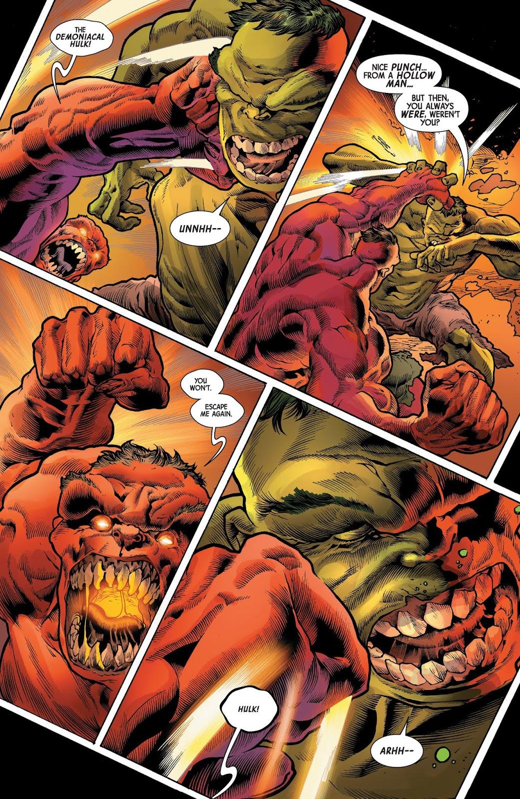 The Immortal Hulk VS The Red Hulk