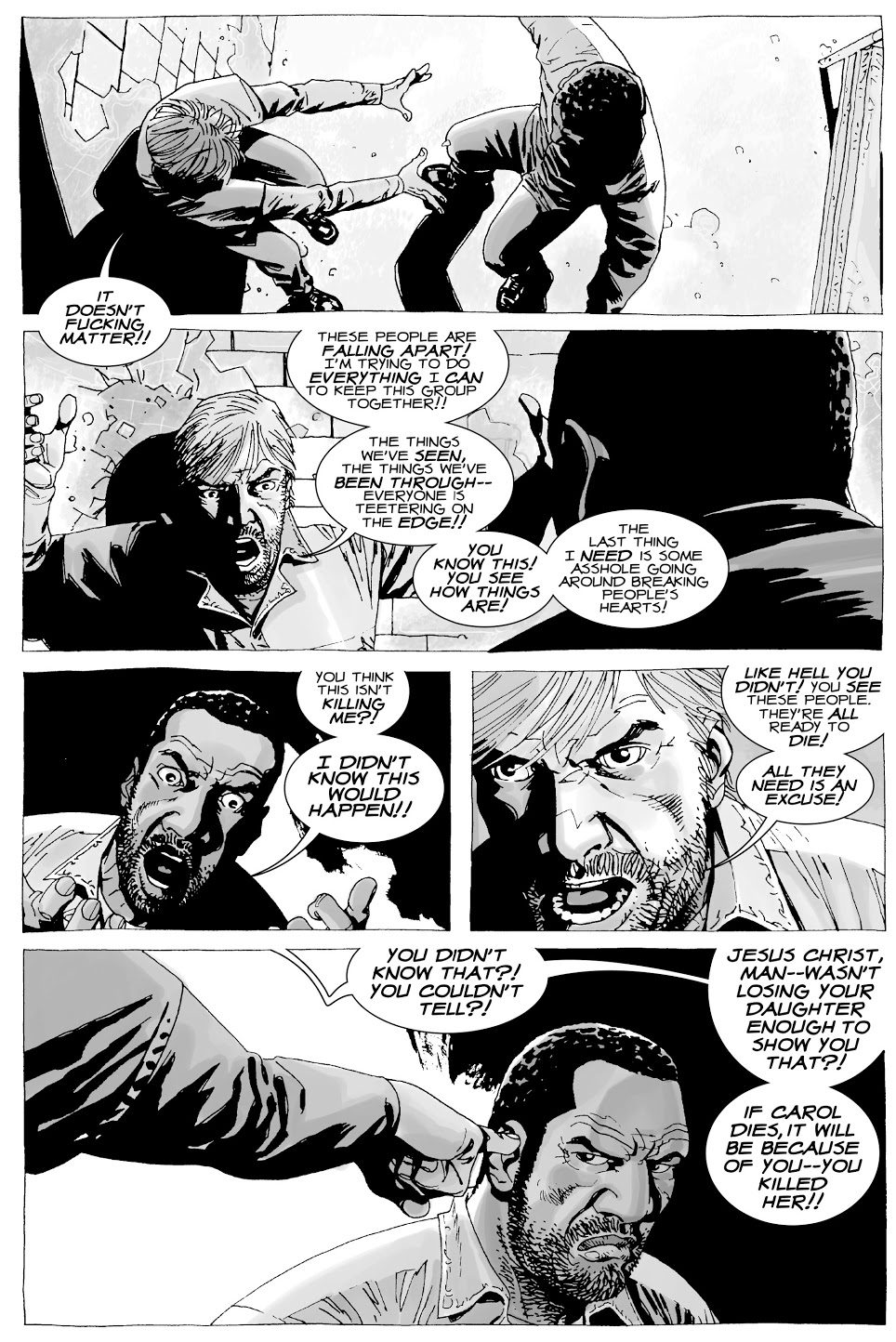Tyreese Punches Rick Grimes (The Walking Dead)