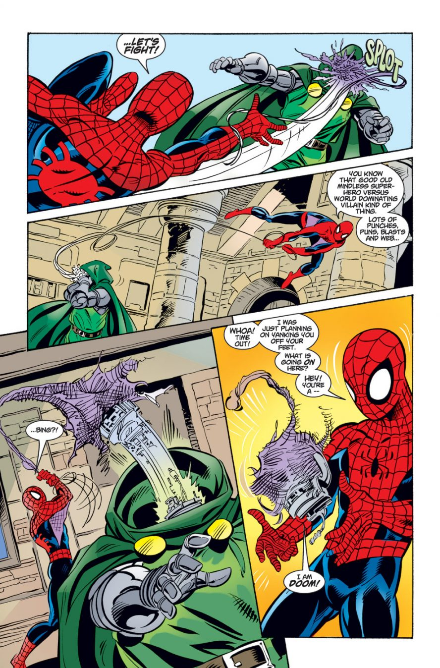 Spider-Man VS A Doombot