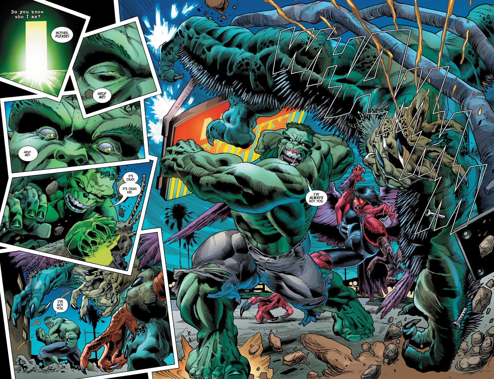 The Hulk And The Harpy VS The Abomination