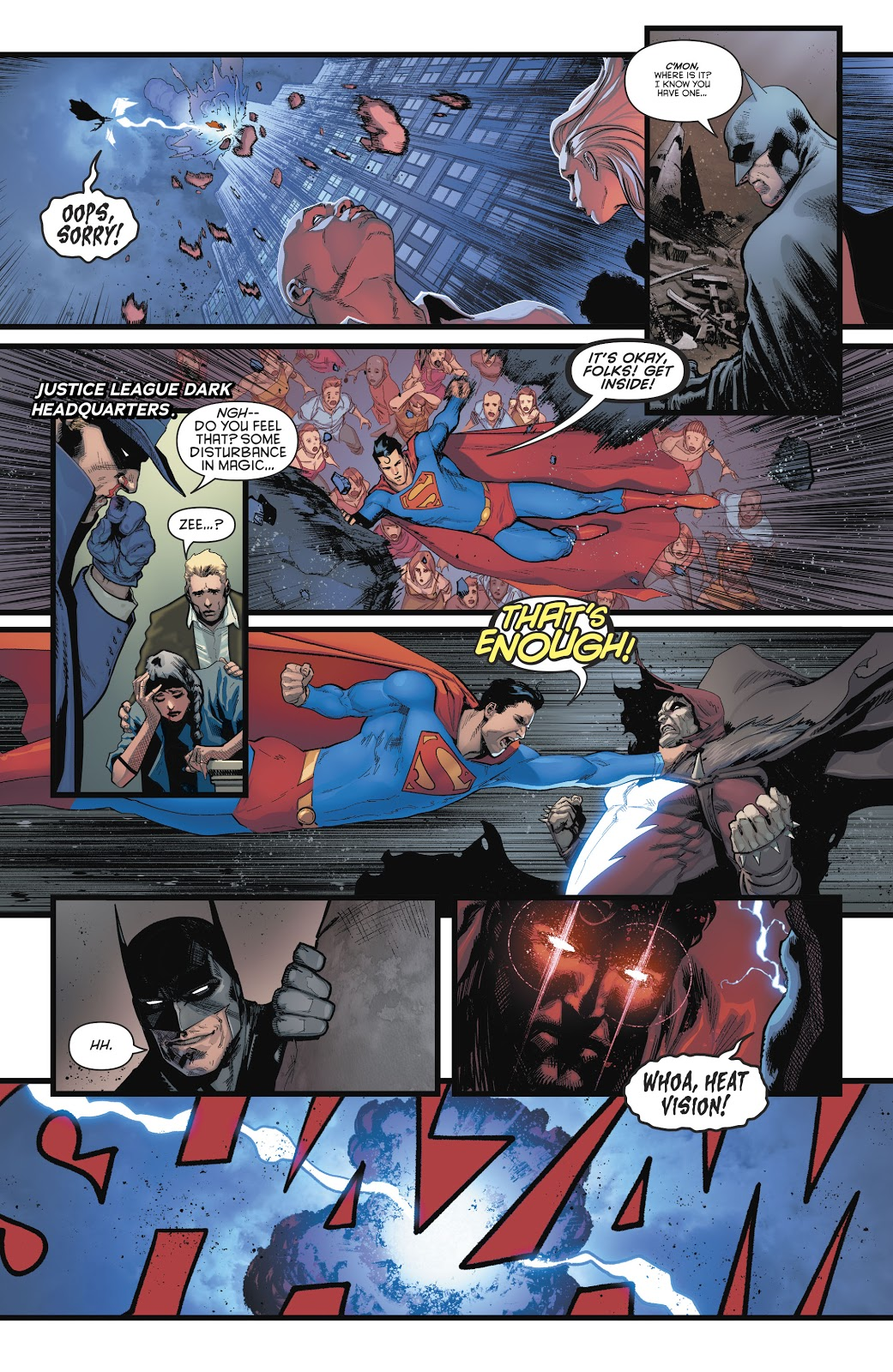 Superman And Batman VS The Shazam Who Laughs