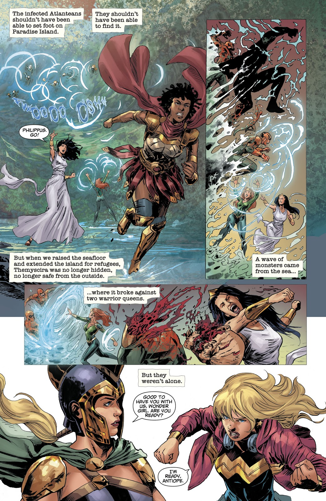 Amazons VS Undead Atlanteans (Dceased)