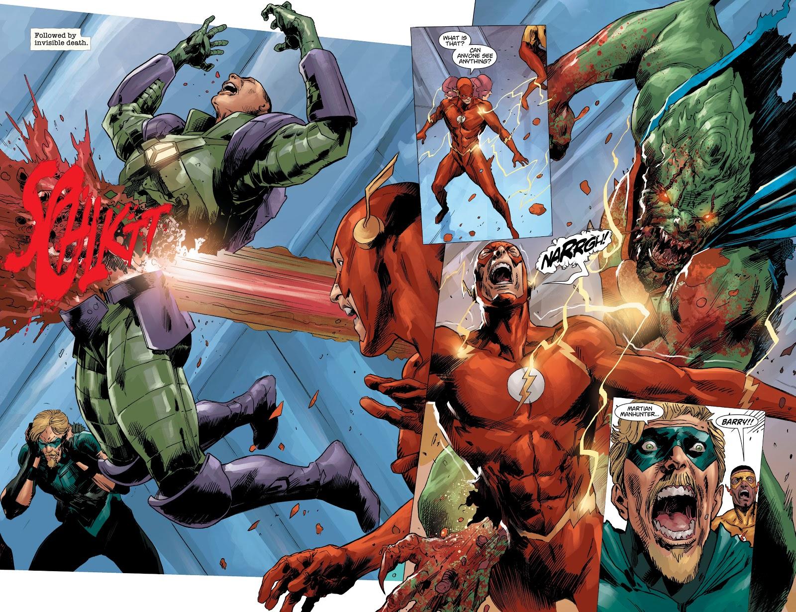 Firestorm Kills Martian Manhunter (DCeased)