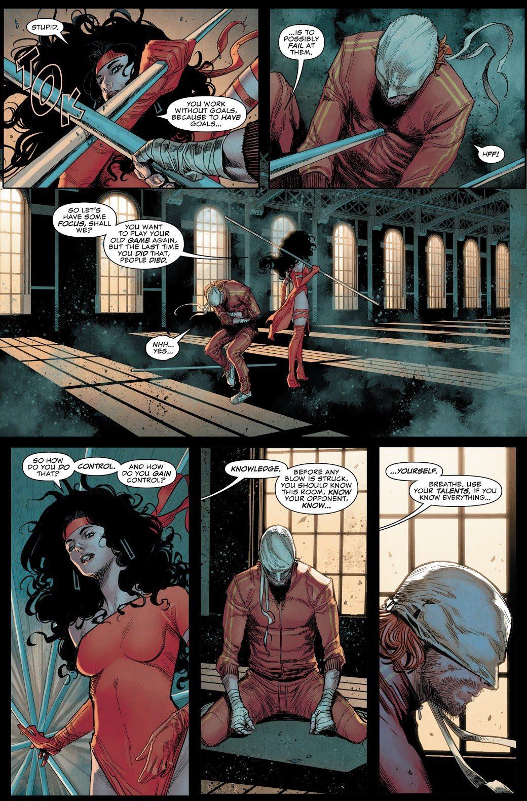 Elektra Trains Daredevil (Daredevil Vol. 6 #13)