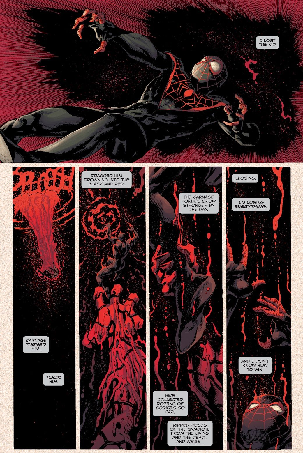 Miles Morales Bonds With The Grendel Symbiote