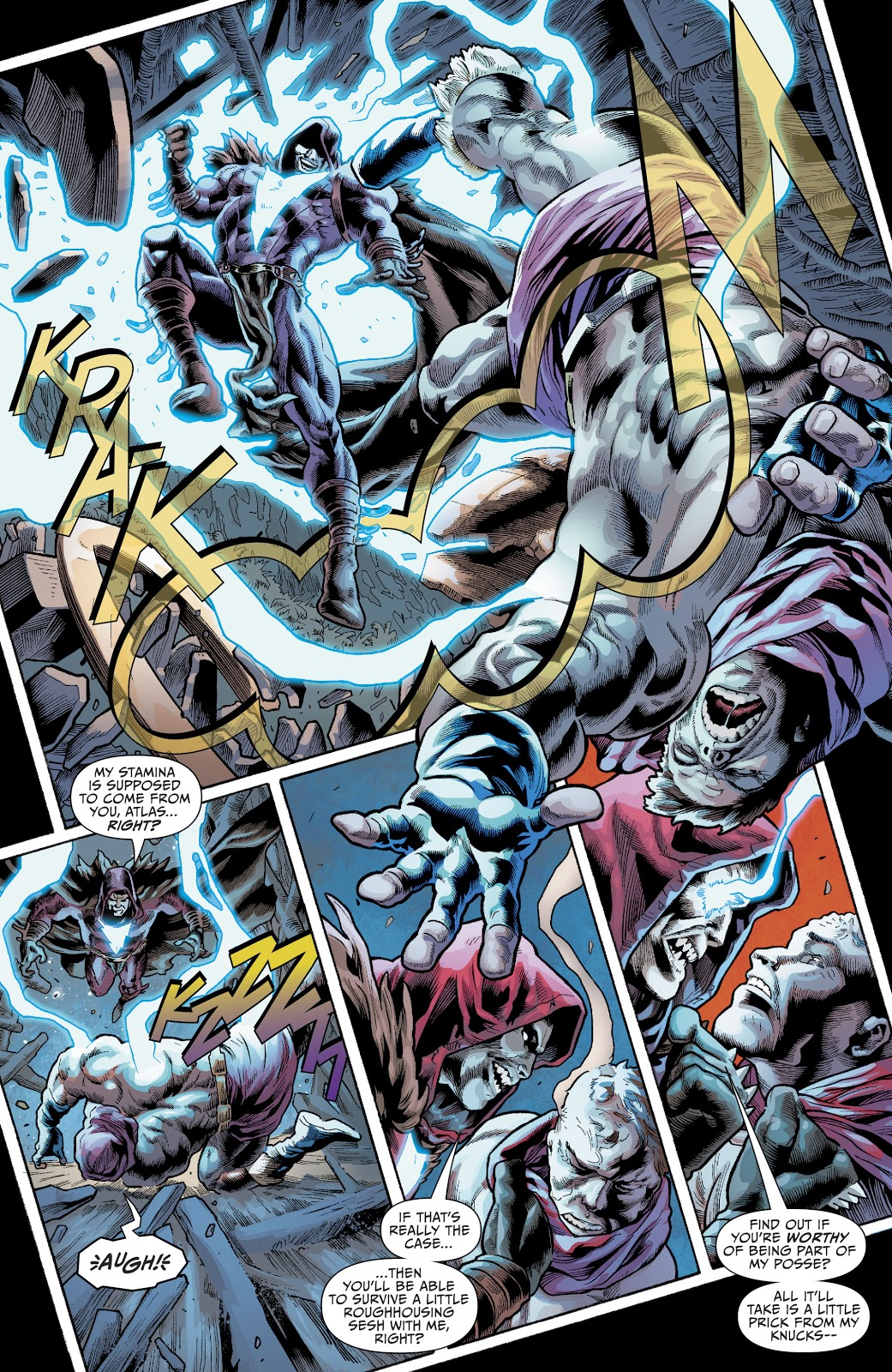 Shazam Who Laughs VS Atlas