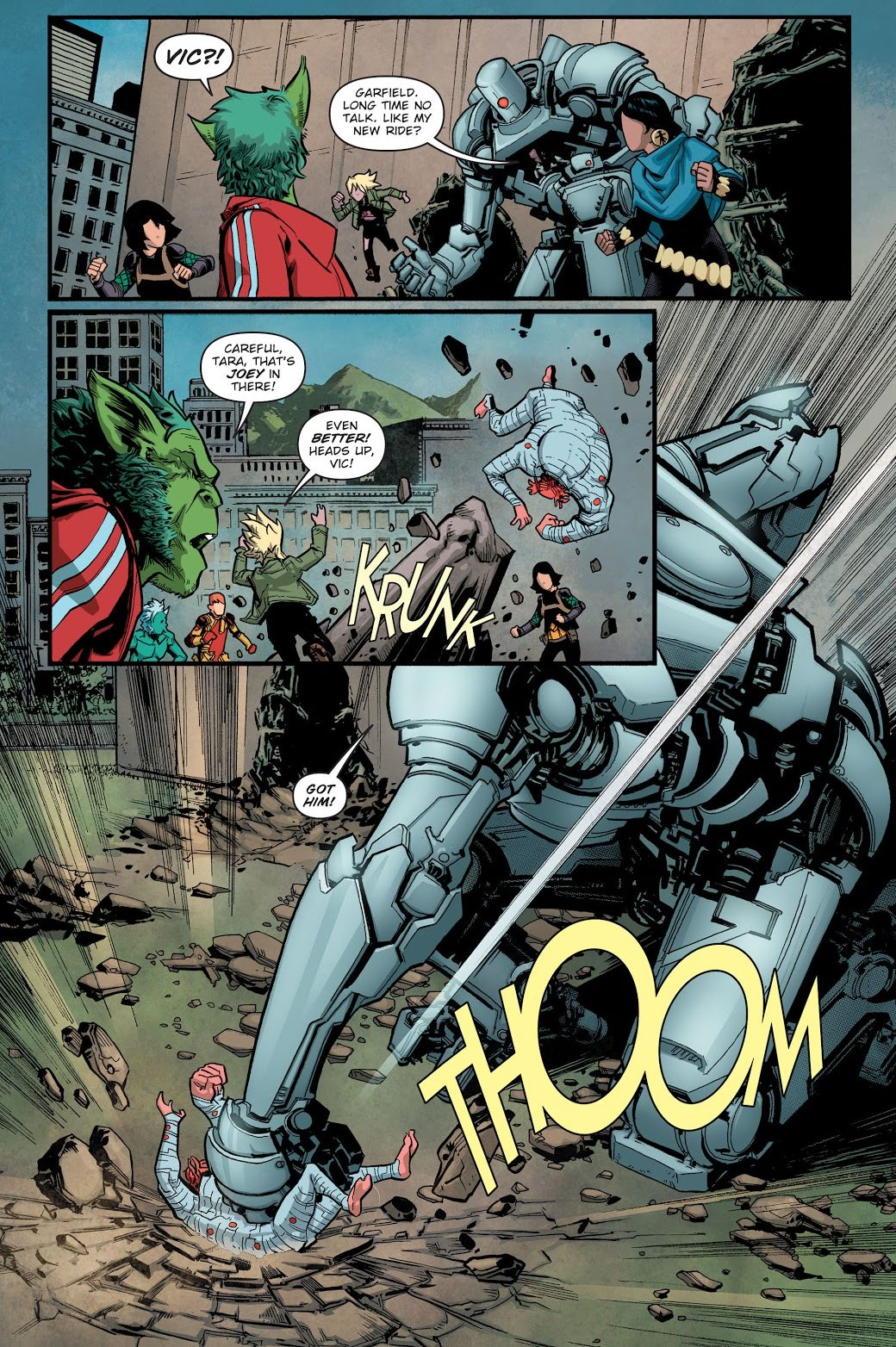Jericho Takes Control Of Blackfire (Earth 1)