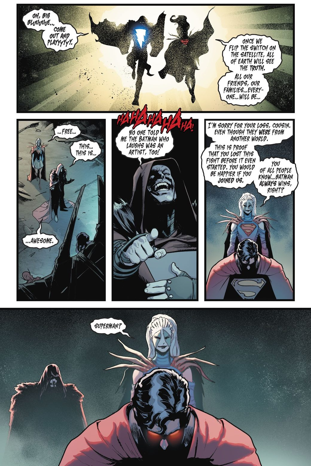 Superman-VS-Infected-Supergirl-And-Shazam