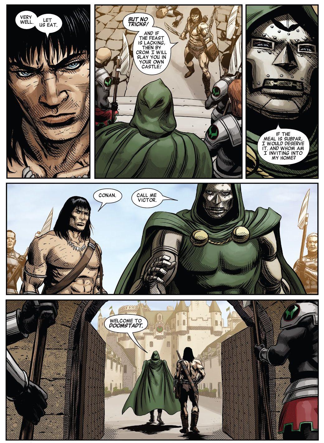 Conan The Barbarian Meets Doctor Doom