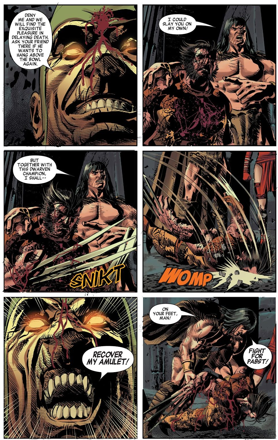 Conan Uses Wolverine As A Weapon