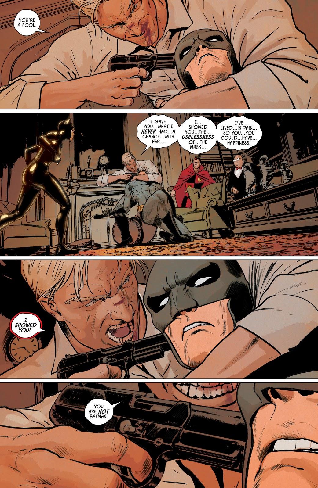 Batman Defeats Flashpoint Batman