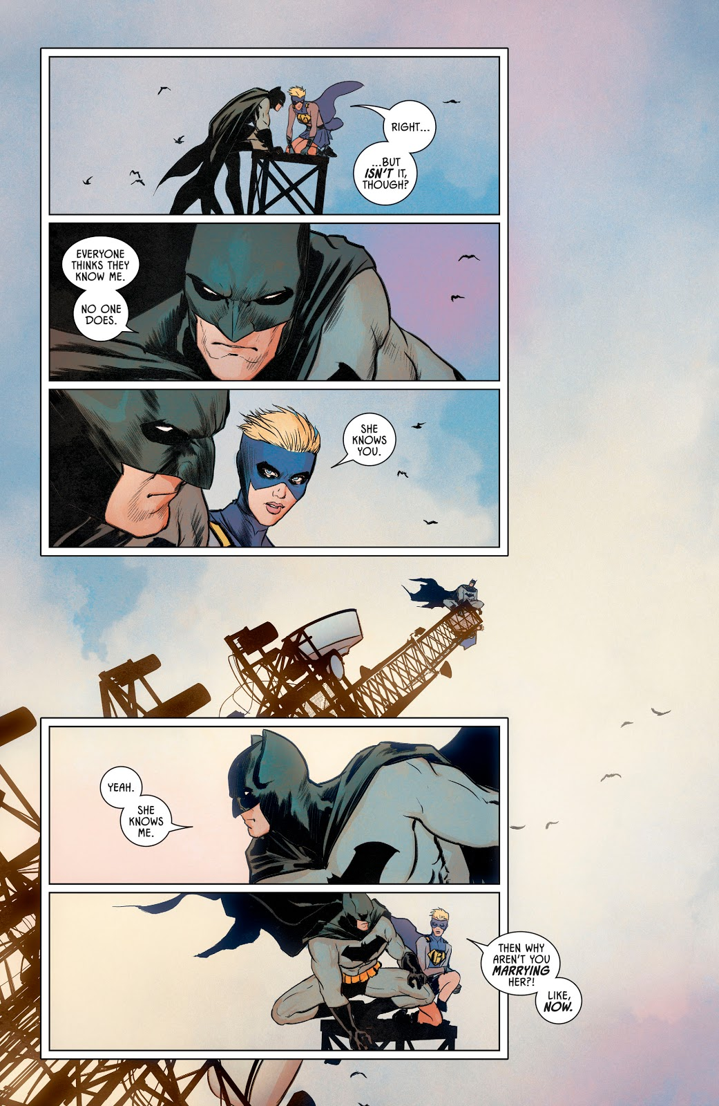 Batman Gives Gotham Girl Platinum Kryptonite