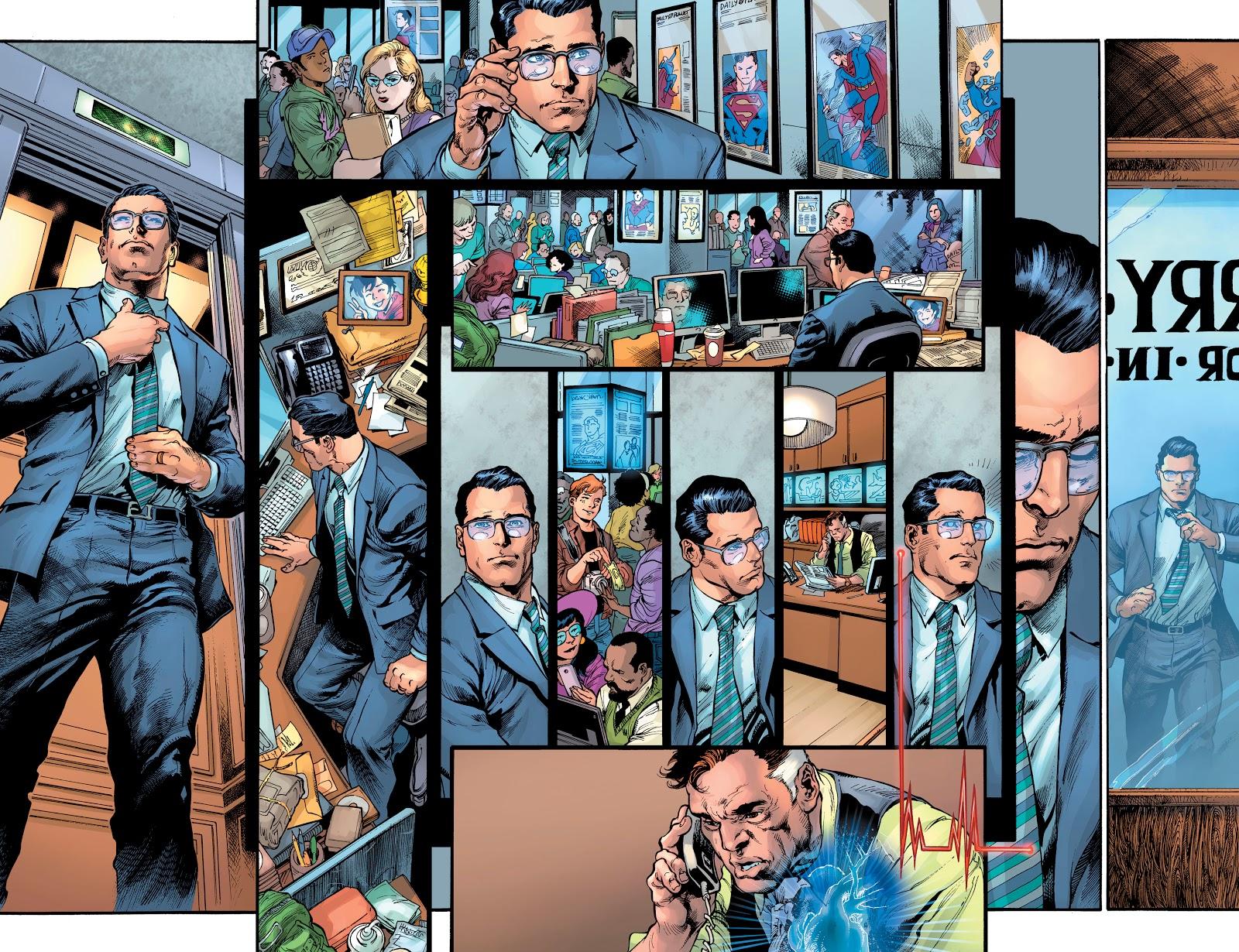 Clark Kent Tells Perry White He's Superman