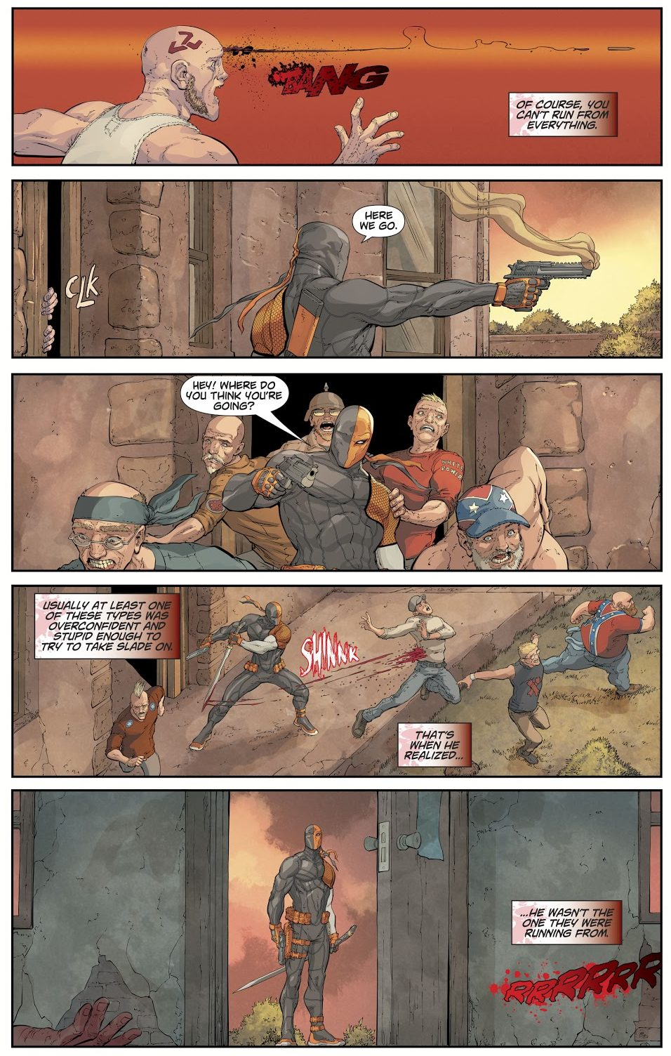 Deathstroke VS Zombie Nazis (DCeased: The Unkillables)