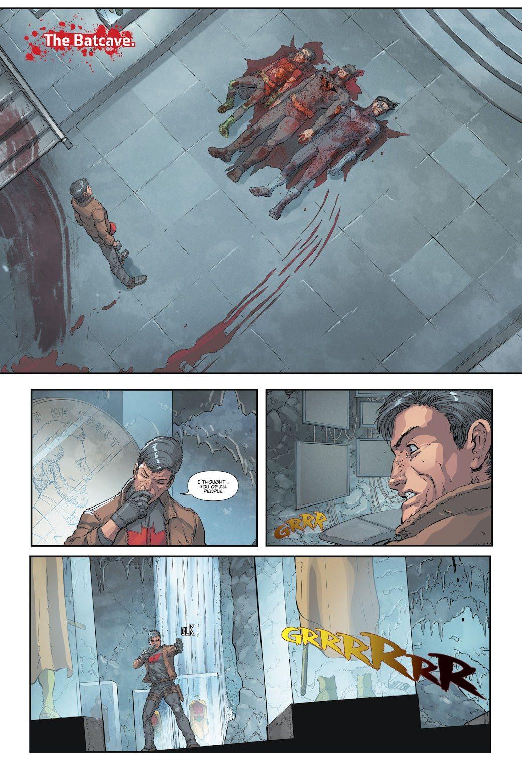 Red Hood Buries Batman (DCeased)