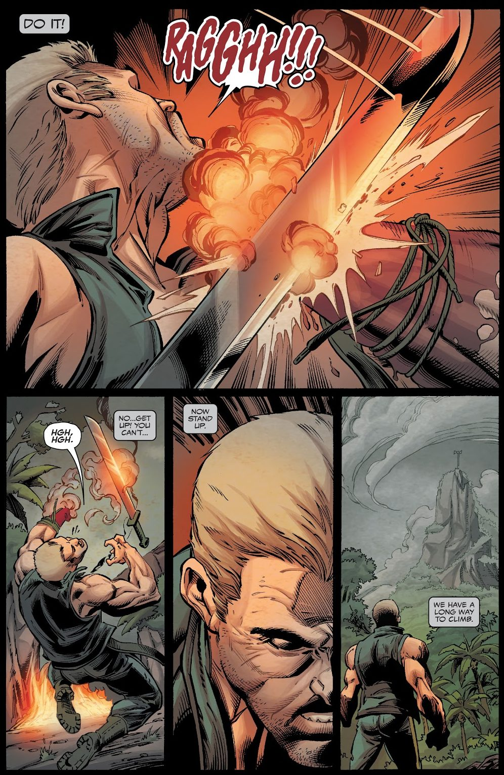Eddie Brock Cauterizes His Wrist