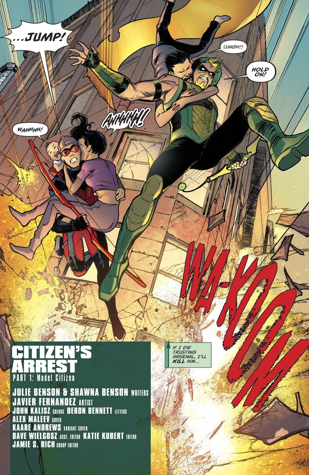 Arsenal (Green Arrow Vol. 6 #43)