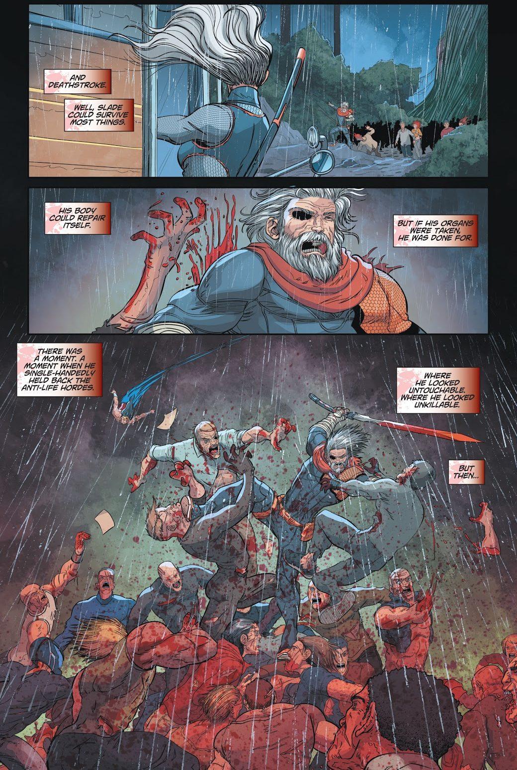 Zombie Wonder Woman Kills Deathstroke (DCeased)