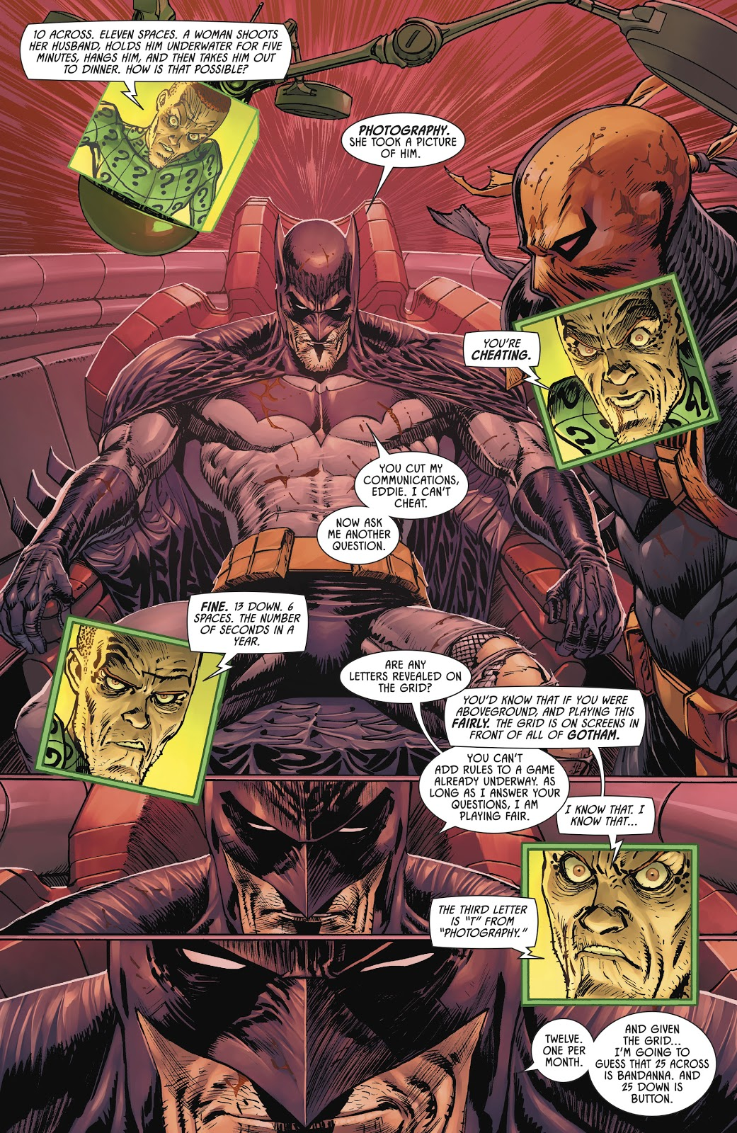 Batman Beats The Riddler In Crossword Puzzles