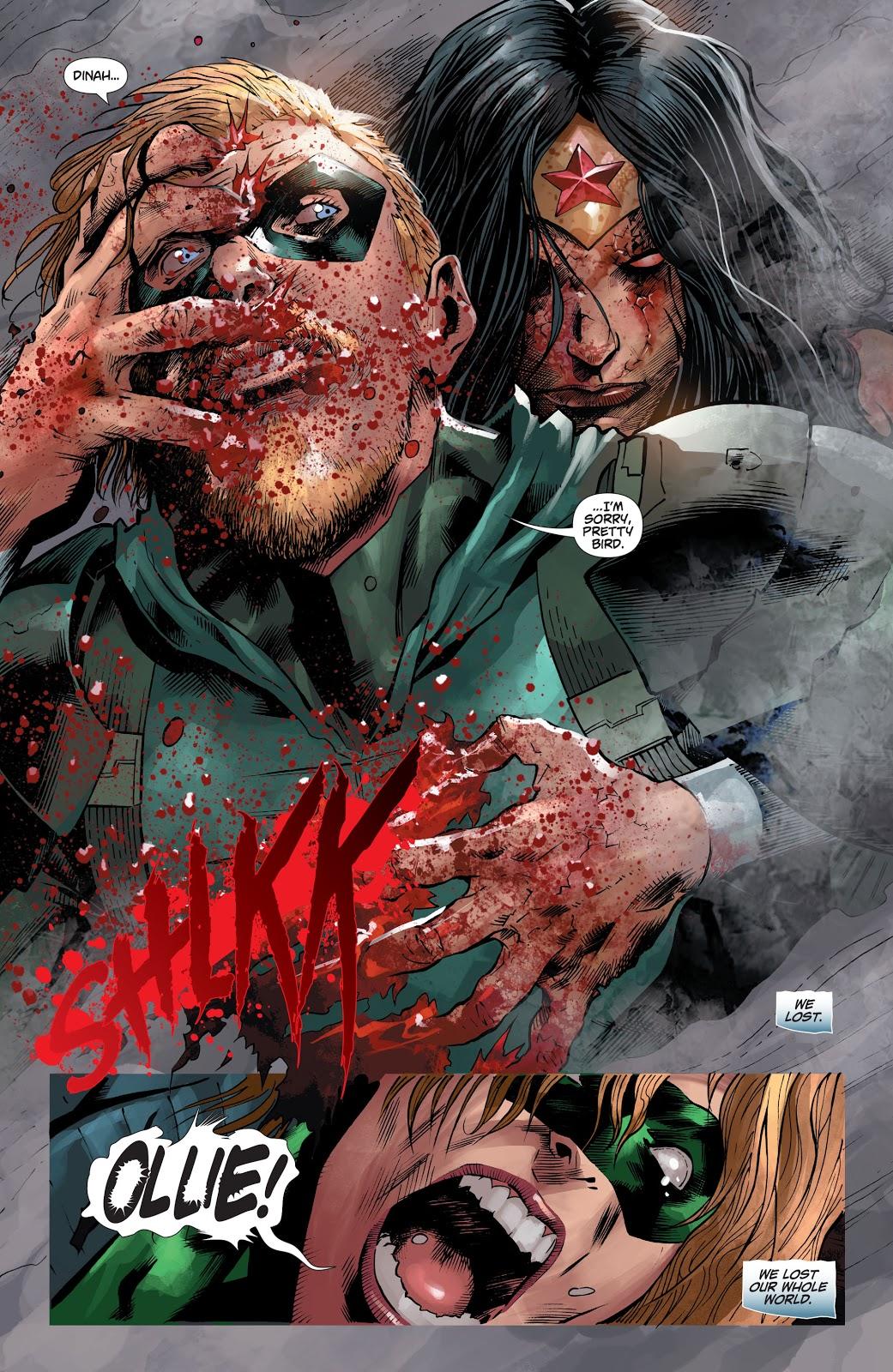 Zombie Wonder Woman Infects Green Arrow (DCeased)
