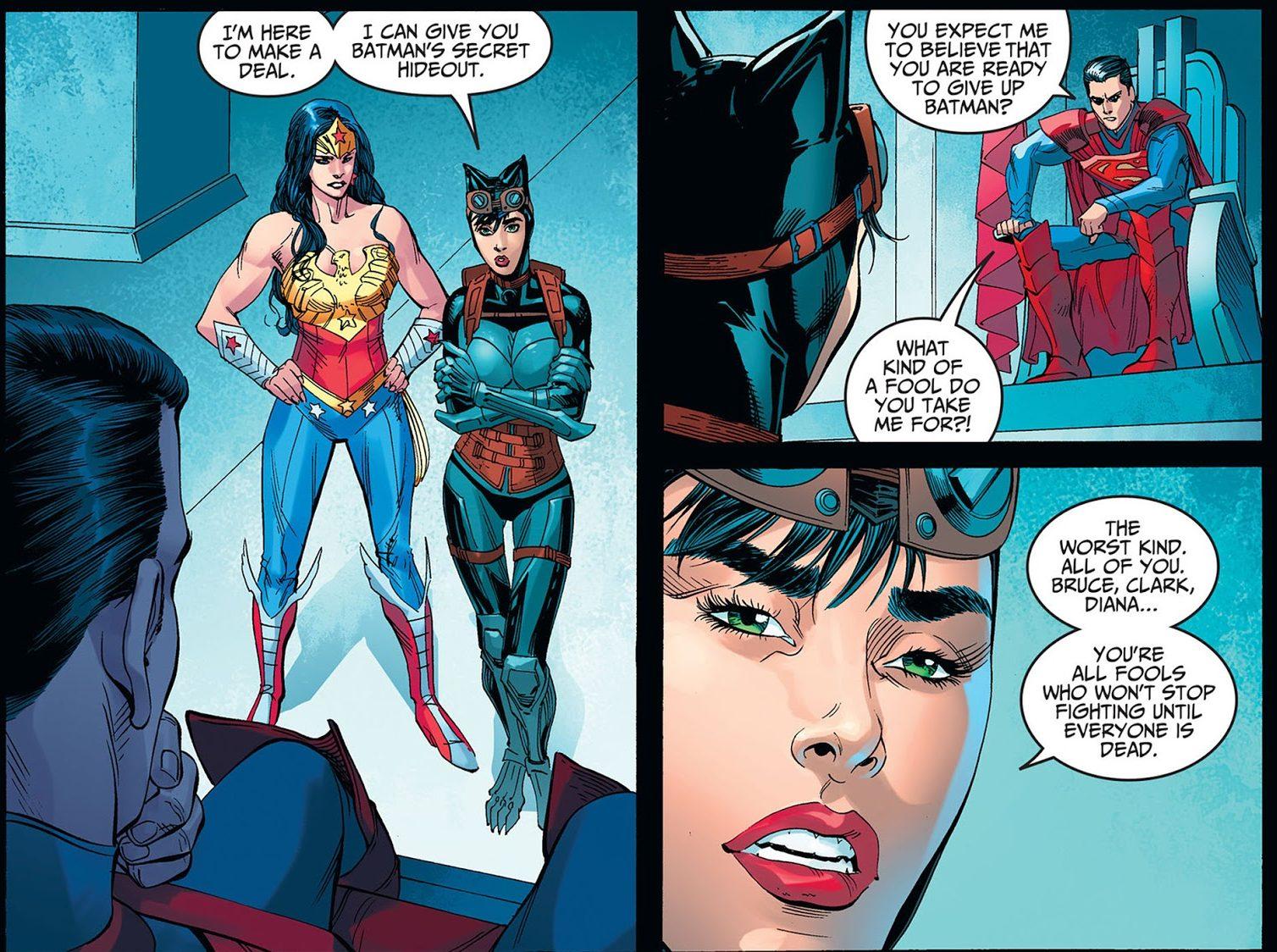 Catwoman Betrays Batman (Injustice Gods Among Us)