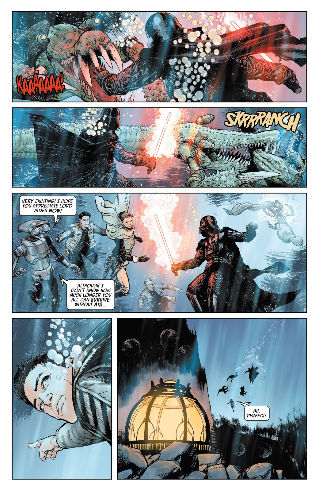 Darth Vader VS Colo Claw Fish