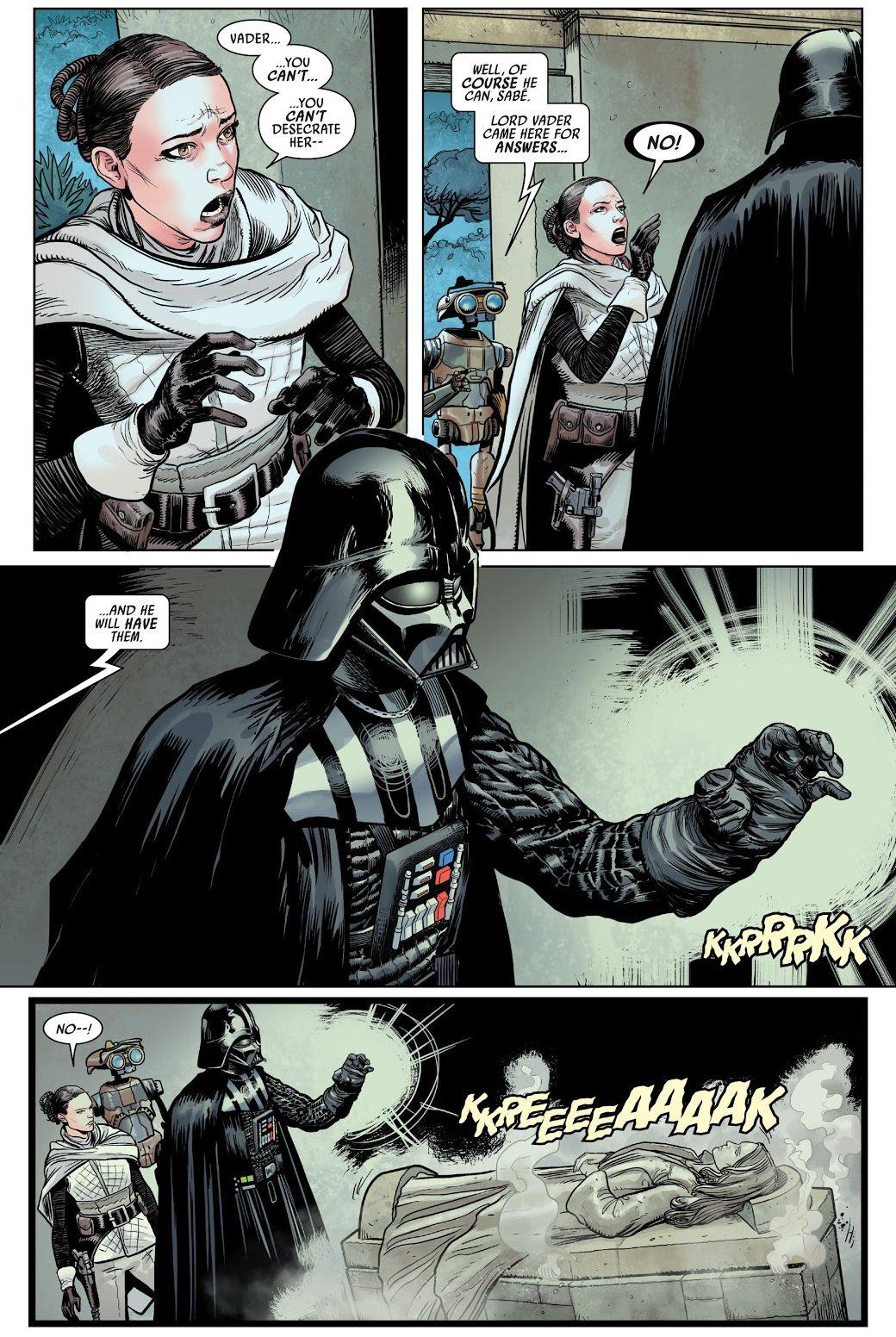 Darth Vader Visits Padme Amidala's Tomb