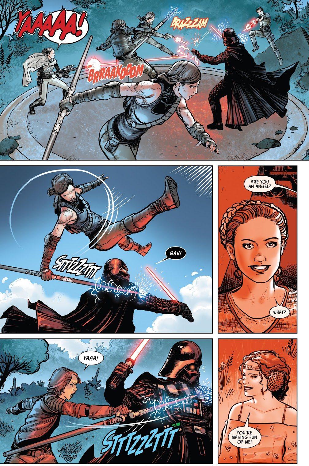 Darth Vader VS Padme Amidala's Handmaidens