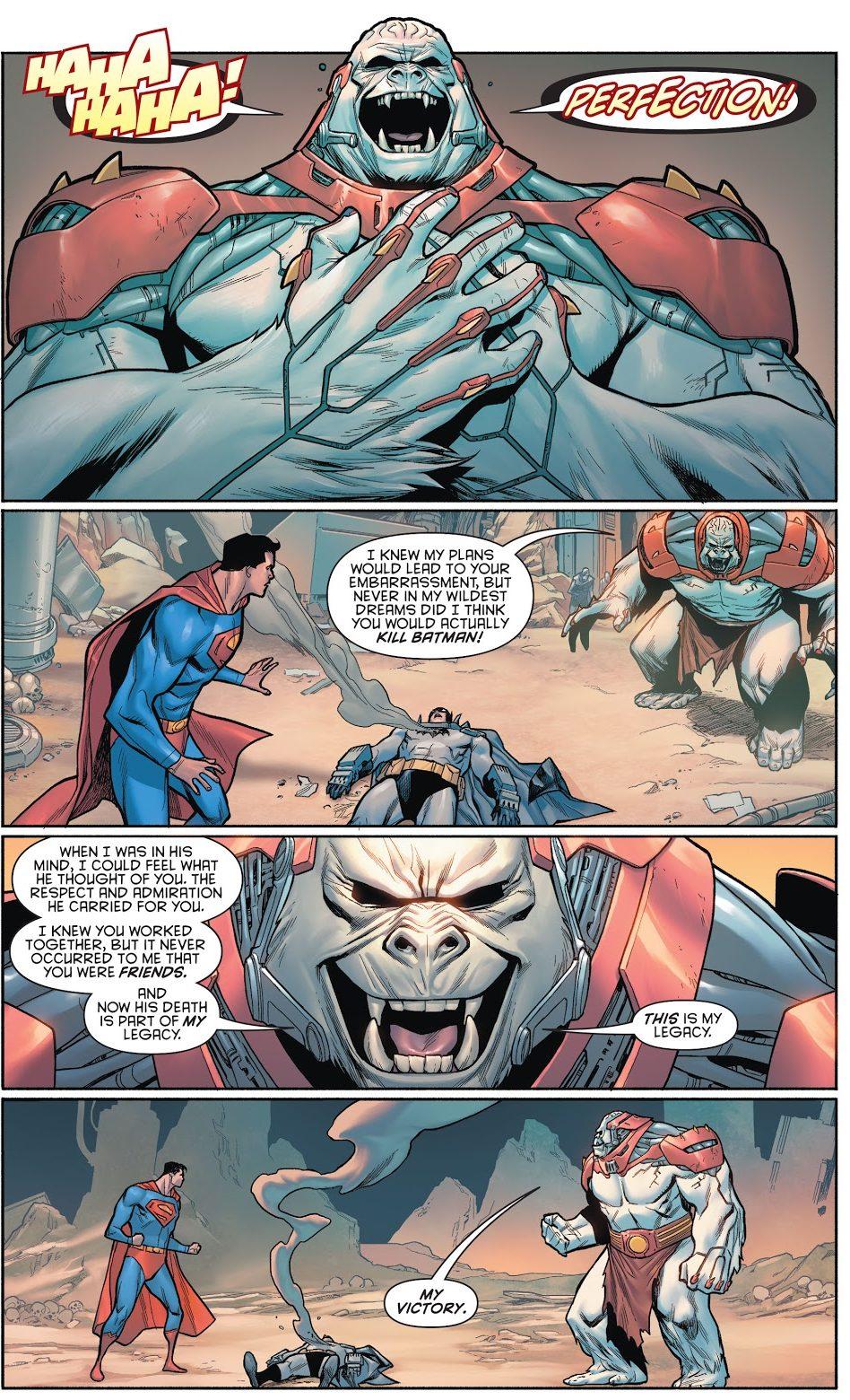 Ultra-Humanite Uses Batman To Fight Superman