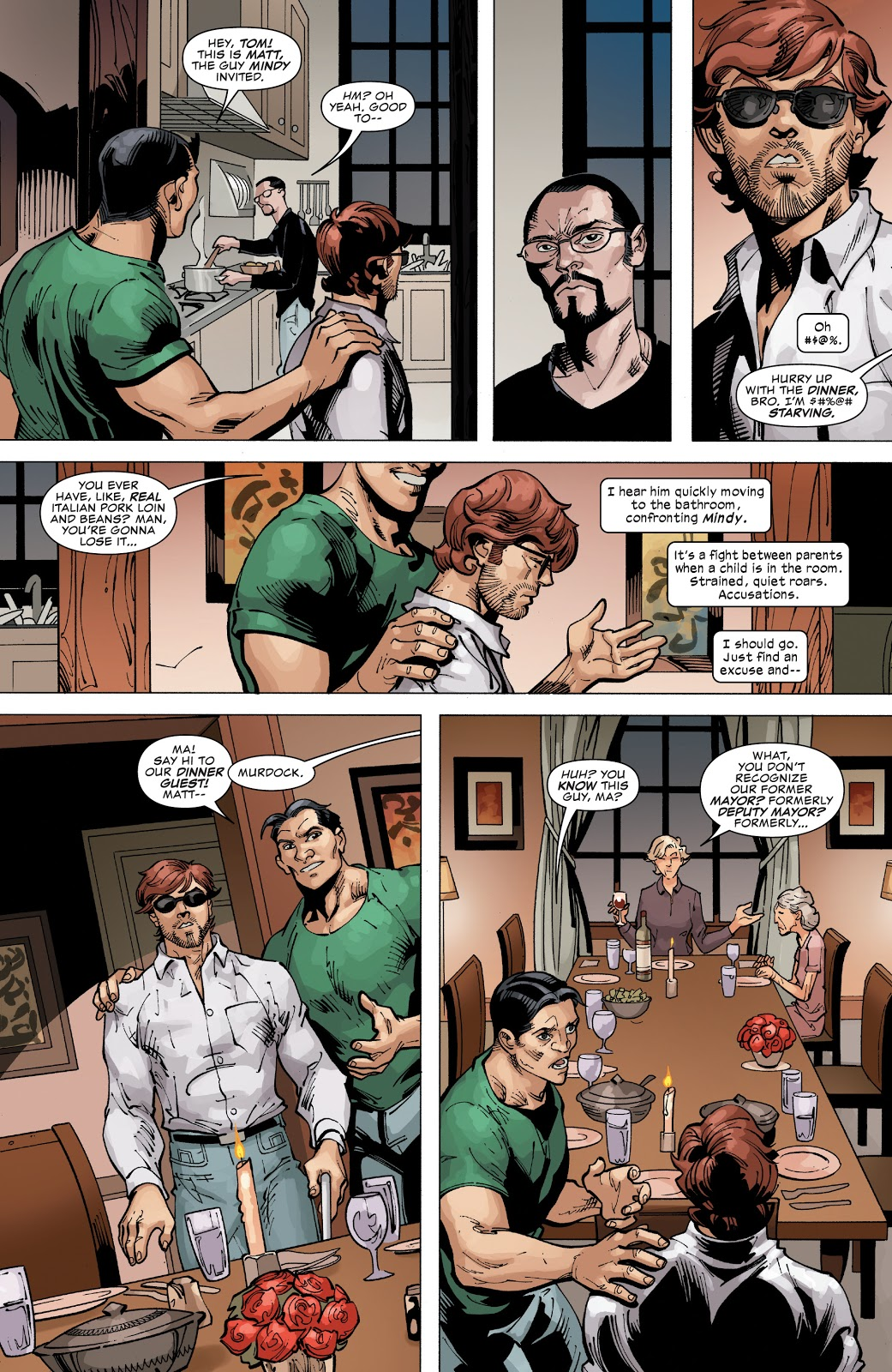 Daredevil Has Dinner With A Crime Family