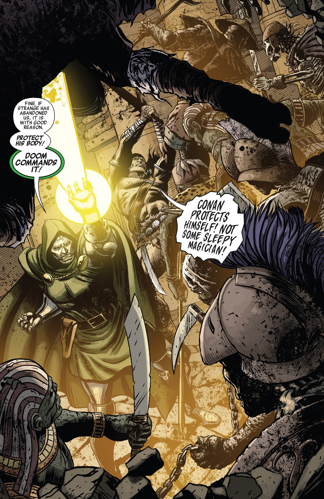 Doctor Doom And Conan The Barbarian