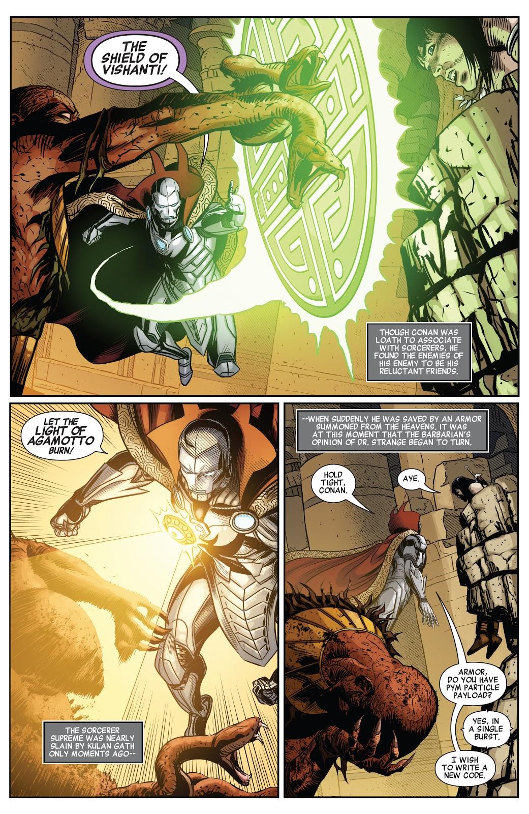 Doctor Strange, Doctor Doom and Conan VS Kulan Gath