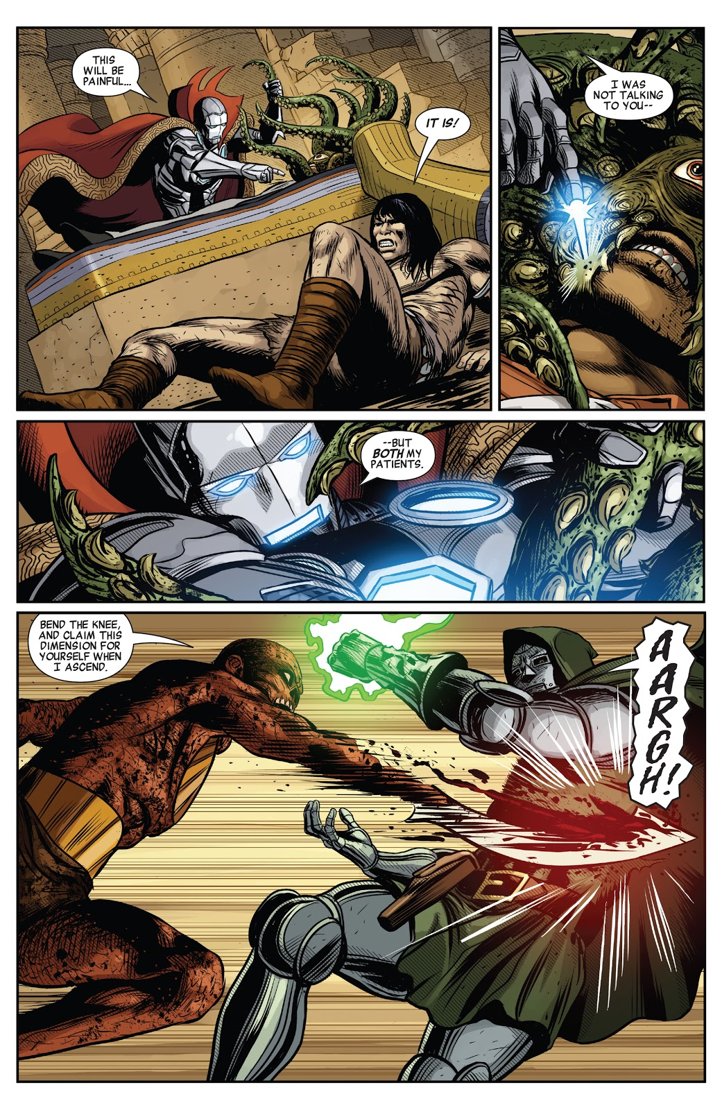 Doctor Strange, Doctor Doom and Conan VS Kulan Gath