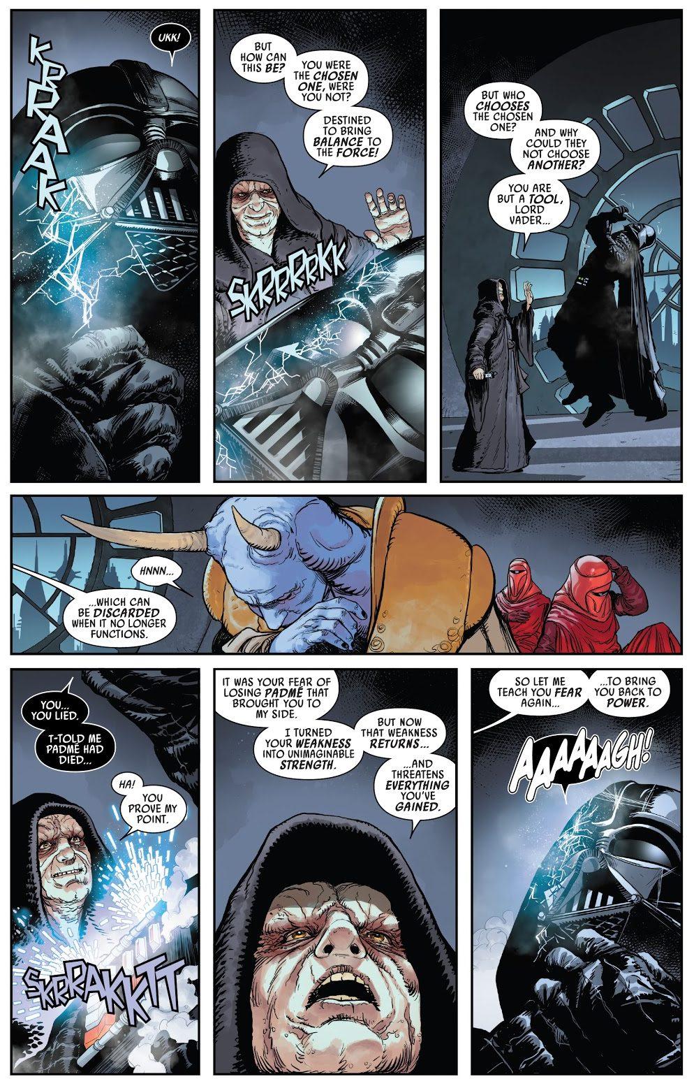 Emperor Palpatine Leaves Darth Vader In Mustafar